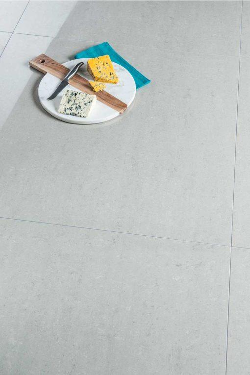 Earthstone Porcelain - Silver Polished 80x80