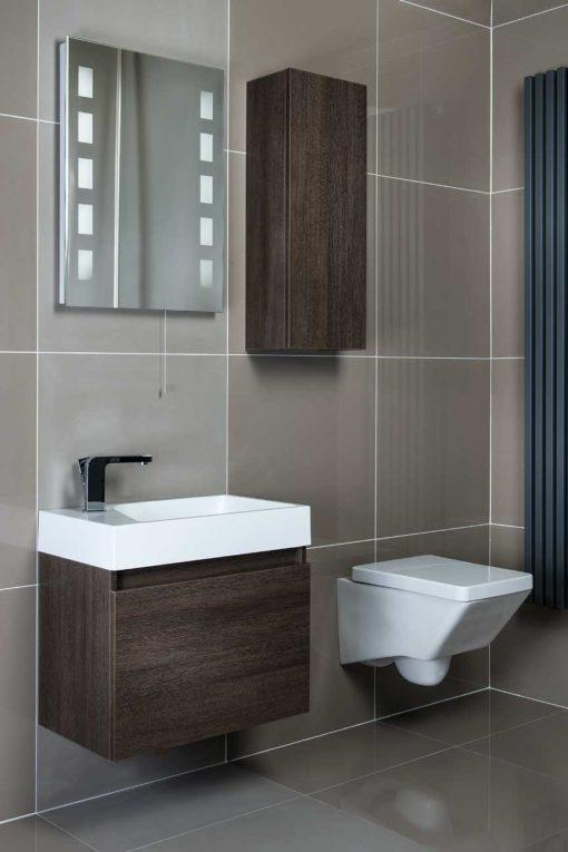 Plain Colour Porcelain - Taupe polished and matt tiles 60cm x 60cm