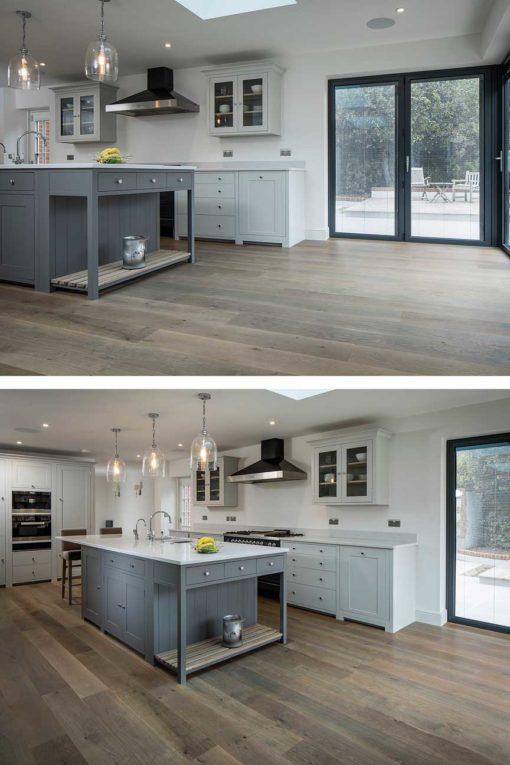 Smoked and Grey Wash Oak Engineered 190 Wood Flooring