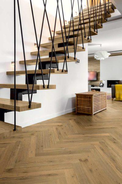 San Marino Oak Herringbone Wood Flooring