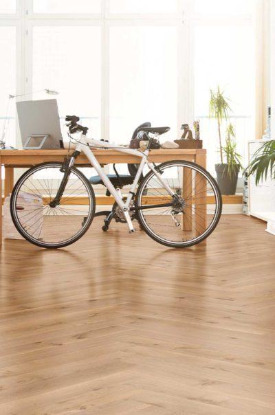 Sierra Semi Smoked Herringbone Wood Flooring