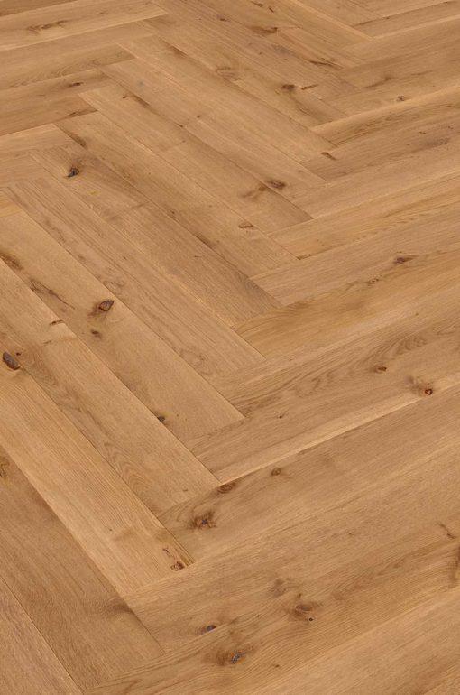 Sierra Smoked Oak Herringbone Wood Flooring