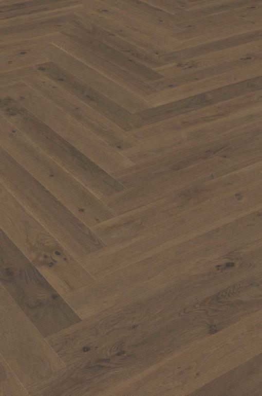 Valletta Smoked Oak Herringbone Wood Flooring