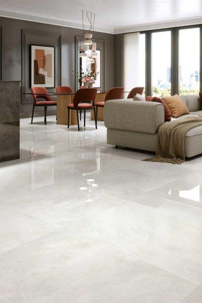 1 Metre x 1 Metre 1846 White Gloss Porcelain Tile